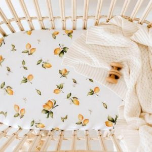Snuggle Hunny Kids Bassinet Sheet/Change Pad Cover Lemons