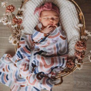 Snuggle Hunny Kids Organic Muslin Wrap Rainbow Baby