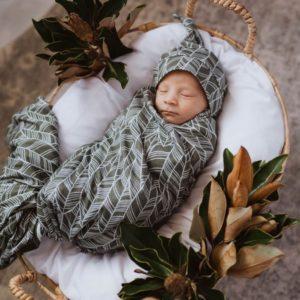 Snuggle Hunny Kids Tribal Jersey Wrap & Beanie Set