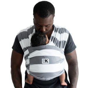 Baby K'tan Print Baby Carrier Charcoal Stripe