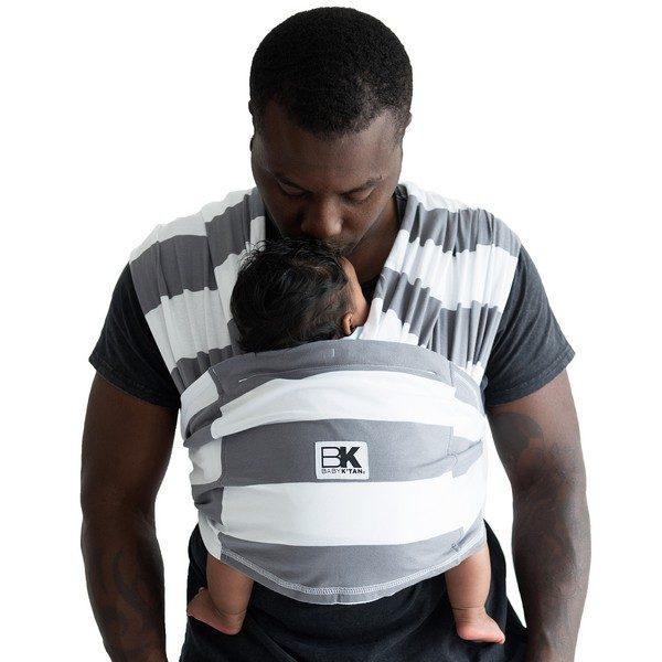 Baby K'tan Print Baby Carrier Charcoal Stripe