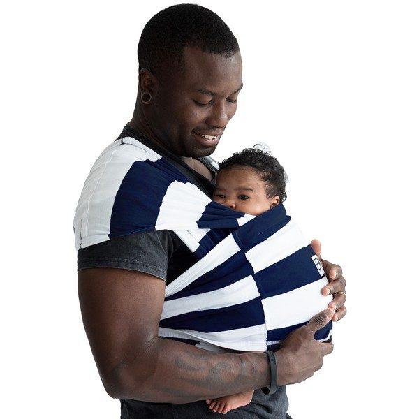 Baby K'tan Print Baby Carrier Navy Stripe