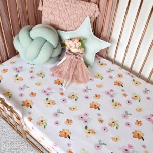 Snuggle Hunny Kids Poppy Fitted Cot Sheet