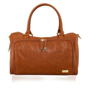 Isoki Double Zip Satchel Amber