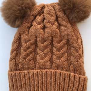 Luna Treasures Double Pom Beanie Desert