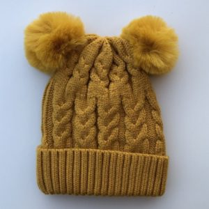 Luna Treasures Double Pom Beanie Sunset