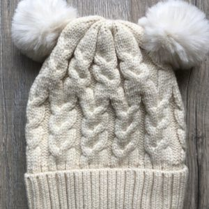 Luna Treasures Double Pom Beanie Oat