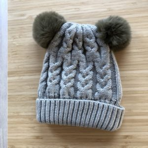 Luna Treasures Double Pom Beanie Sage