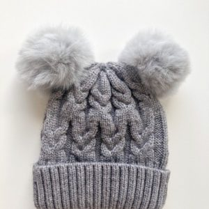 Luna Treasures Double Pom Beanie Storm