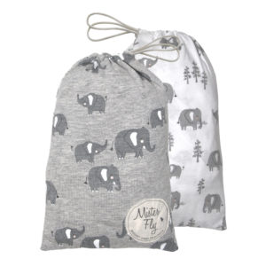 Mister Fly Elephant Jersey Bassinet Sheet Twin Pack
