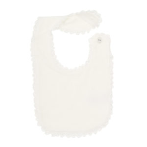 Bebe Special Occassion Velour Bib with Lace