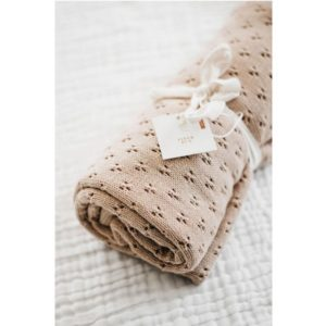 Piper Bug Heritage Knit Blanket Caramel