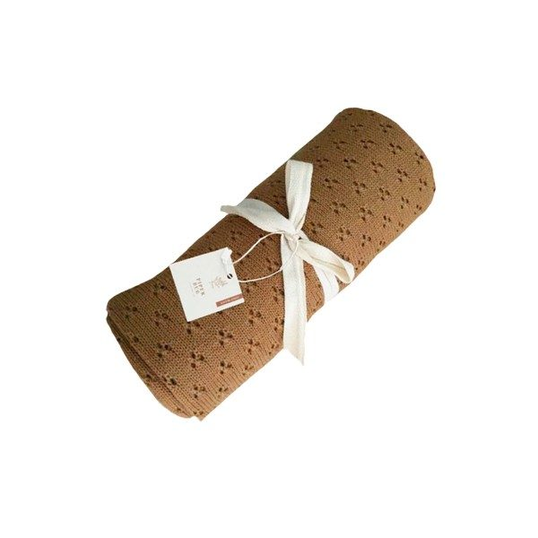 Piper Bug Heritage Knit Blanket Cinnamon