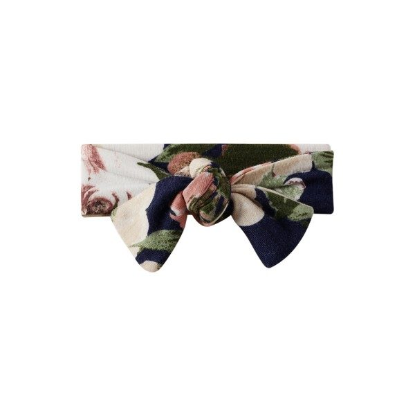 Cracked Soda Knot Headband Floral Navy