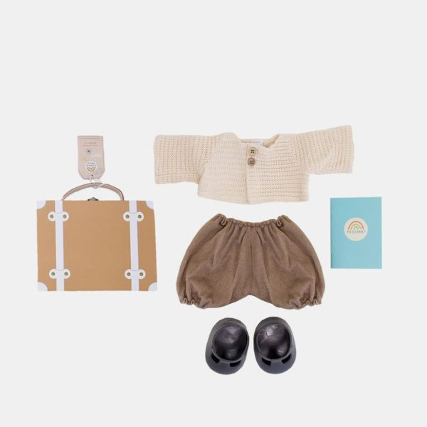 Olli Ella Dinkum Doll Travel Togs Rust