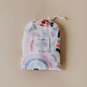 Snuggle Hunny Kids Bassinet Sheet/Change Pad Cover Rainbow Baby