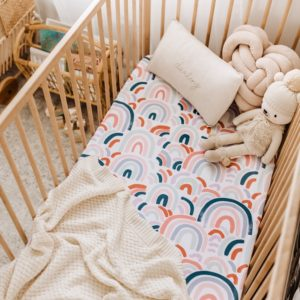 Snuggle Hunny Kids Fitted Cot Sheet Rainbow Baby