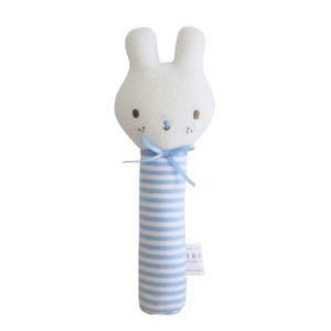 Alimrose Baby Bunny Squeaker Blue