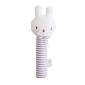 Alimrose Baby Bunny Squeaker Grey