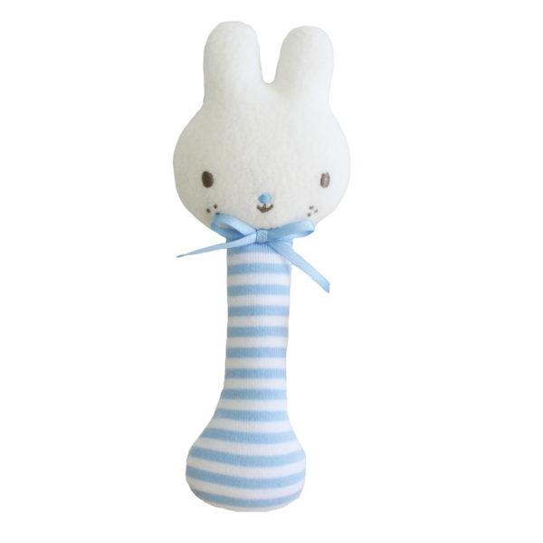 Alimrose Baby Bunny Stick Rattle Blue