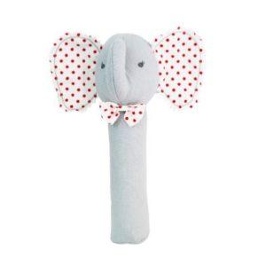Alimrose Baby Elephant Squeaker Grey