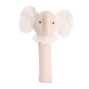 Alimrose Baby Elephant Squeaker Pink