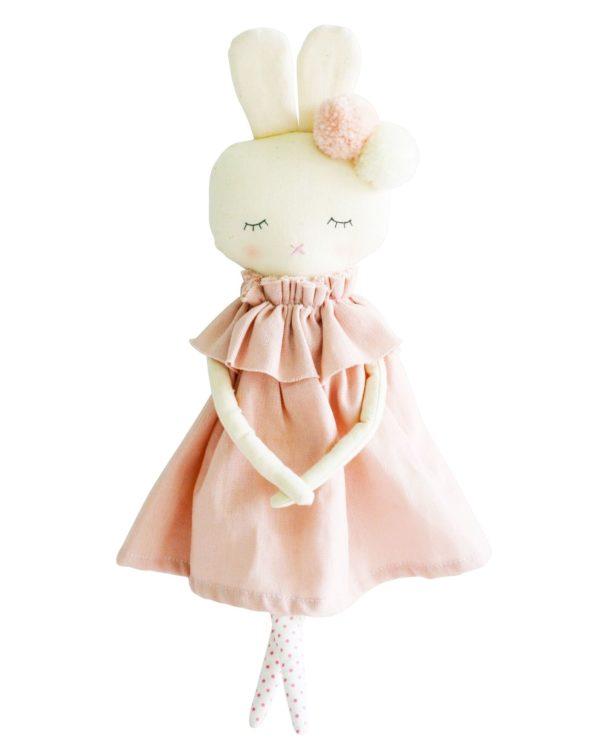 Alimrose Bunny Isabelle Pink Linen