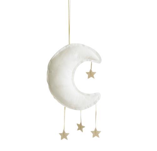 Alimrose Linen Moon Mobile