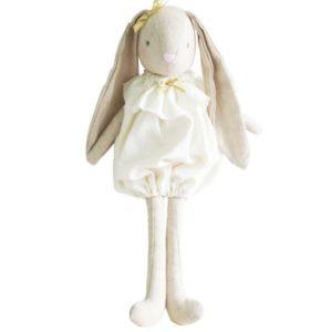 Alimrose Sadie Ivory Romper Bunny