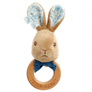 Beatrix Potter Signature Collection Peter Rabbit Wooden Ring Rattle
