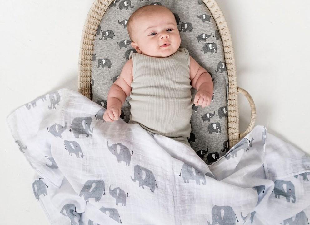 Elephant muslin wrap
