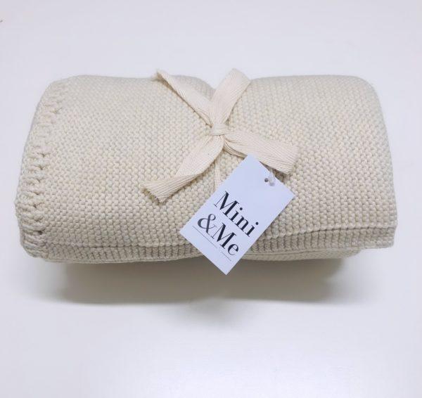 Mini & Me Cable Knit Blanket