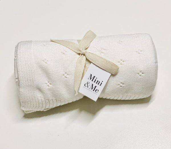 Mini & Me Heirloom Blanket Ivory