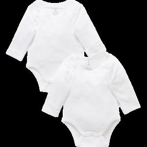 Purebaby Easy Neck Long Sleeve Bodysuit Pack