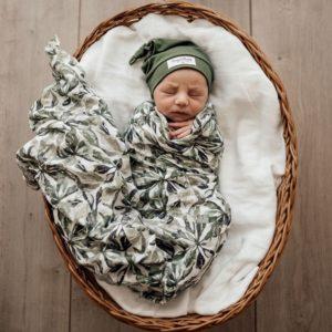 Snuggle Hunny Kids Organic Muslin Wrap Evergreen