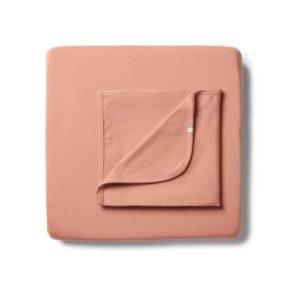 Wilson & Frenchy Organic Bassinet Sheet Set Little Clay