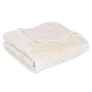 Aden + Anais Metallic Primrose Birch Stroller Blanket