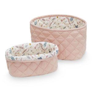 Cam Cam Copenhagen Quilted Storage Basket Set Blossom