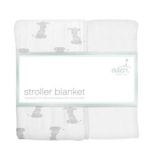 Aden + Anais Safari Babies - Elephants Stroller Blanket