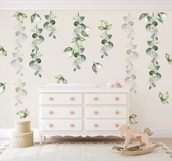 Ginger Monkey Green Foliage Full Set Wall Decal