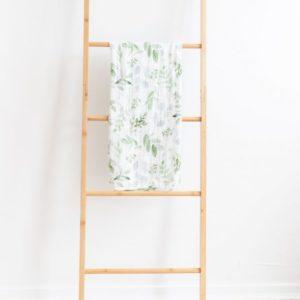 Luna Treasures Bamboo Muslin Wrap Evergreen