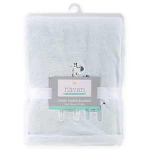 Little Haven Safari Fleece Pram Blanket