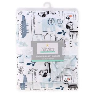 Little Haven Safari Velour Pram Blanket
