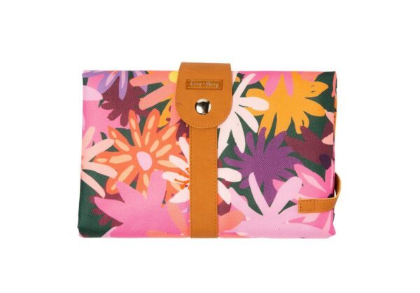 Livvy + Harry Travel Baby Change Mat Colourpop Floral