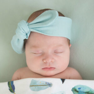 Snuggle Hunny Kids Topknot Headband Spearmint