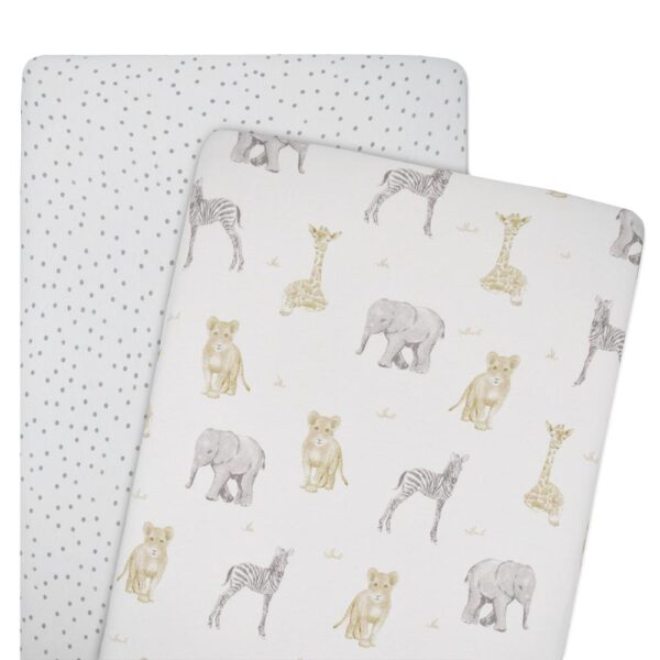 Living Textiles Savanna Babies Co-Sleeper Fitted Sheets 2 pk