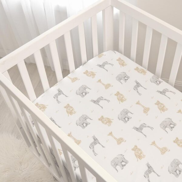 Living Textiles Savanna Babies Cot Fitted Sheets 2 pk