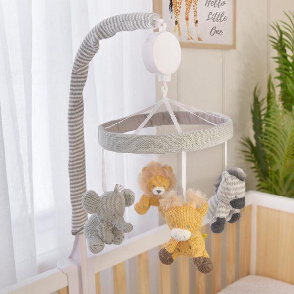 Living Textiles Savanna Babies Musical Mobile
