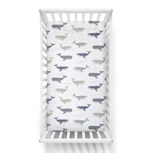 Lolli Living Fitted Cot Sheet Oceania Whales