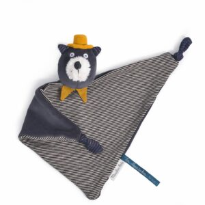 Moulin Roty Les Moustaches Alphonse Grey Cat Comforter